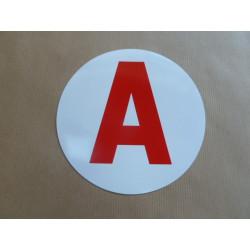 """Disque """"A"""" magnétique jeune conducteur"""