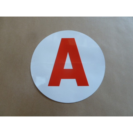 """Disque """"A"""" adhésif jeune conducteur"""