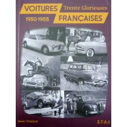 """Livre """"Voitures françaises 1950-1955"""""""