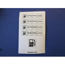étiquette de trappe de carburant