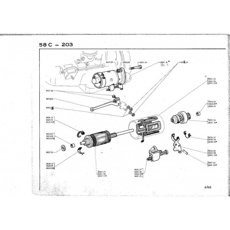 1 FUSIBLE 1353 ALTERNATOR FUSE pour alternateur DUCELLIER de Citroen 2CV