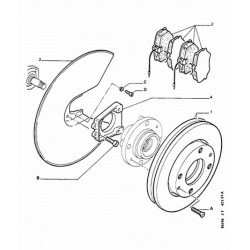 paire de disques de frein arrière