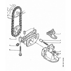 Engine oil pump chain