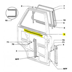Joint intérieur de vitre