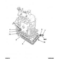 Engine oil sump gasket