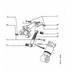 silentbloc inférieur d'amortisseur arrière