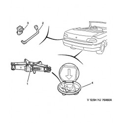 agrafe de clé de roue de secours