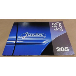 catalogue de présentation 205 Junior 1993