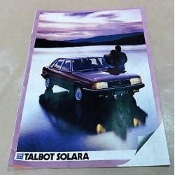 catalogue de présentation Solara 1981