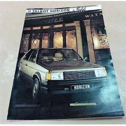 catalogue de présentation Horizon Sherlock 1985