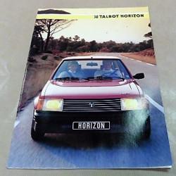 catalogue de présentation Horizon 1985