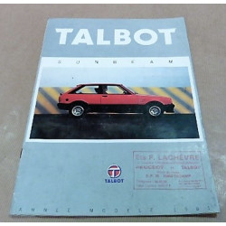 catalogue de présentation Sunbeam 1981