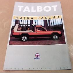 catalogue de présentation Rancho 1981