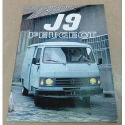 catalogue de présentation J9 1984