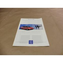 catalogue de présentation 405 1993