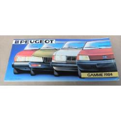 catalogue de présentation Peugeot gamme 1984