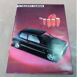 catalogue de présentation Samba1984