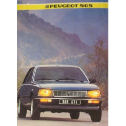 catalogue de présentation 505 GTi