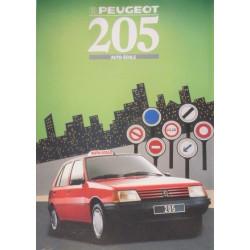 catalogue de présentation 205 Auto-Ecole 1988