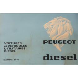 catalogue de présentation Peugeot Diesel 1970