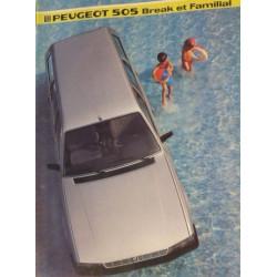 catalogue de présentation 505 Break 1985