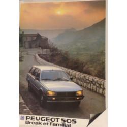 catalogue de présentation 505 Break et Familiale 1983