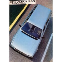 catalogue de présentation 505 Break et Familiale 1984