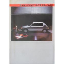catalogue de présentation 205 XA-XAD 1985