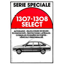 feuille de présentation 1307-1308 Select