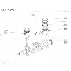 axe de piston Ø16x22x62mm