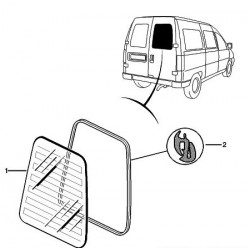 joint de vitre de porte arrière