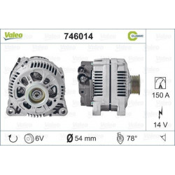 Alternateur échange standard 150A