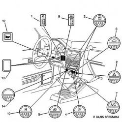 interrupteur de dégivrage de lunette arrière