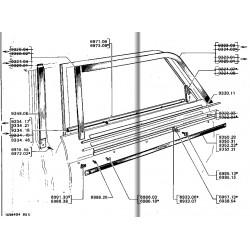 joint de lèche vitre intérieur