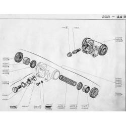 raccord sur cylindre de roue