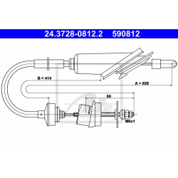 câble d'embrayage 660mm