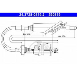 câble d'embrayage 1270mm