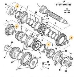 demi rondelle de boîte de vitesses