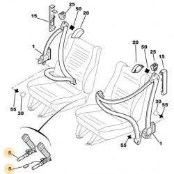 boucle de ceinture de sécurité Pyrotechnique