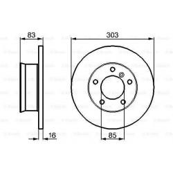 paire de disques de frein avant Ø303