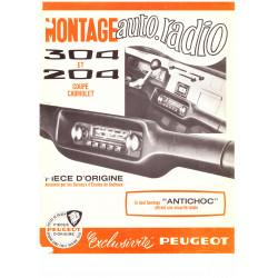 Central band dashboard car radio