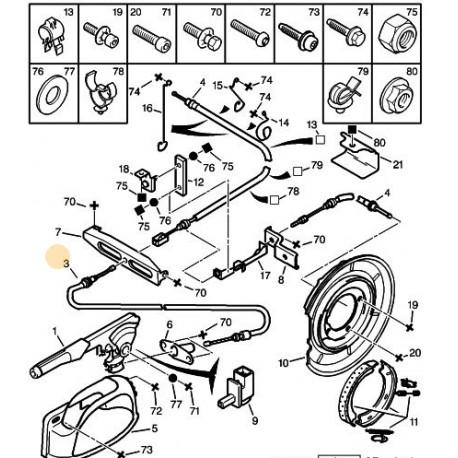 câble de frein primaire