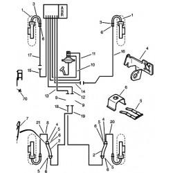 tuyau de frein en cuivre L1050
