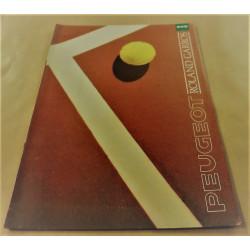 catalogue de présentation 205 Roland-Garros1989