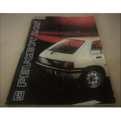 catalogue de présentation 205 Dturbo 1991