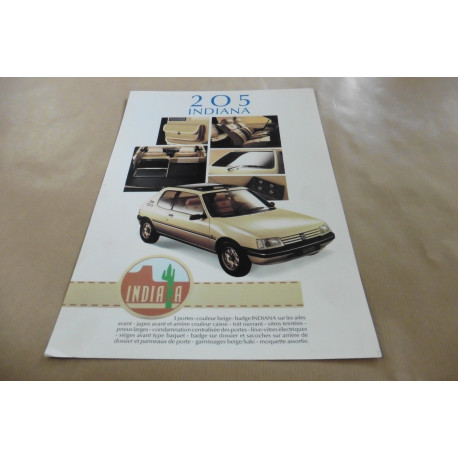 catalogue de présentation 205 Indiana 1992
