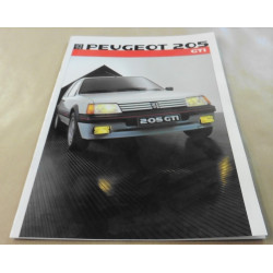 catalogue de présentation 205 GTi 1986