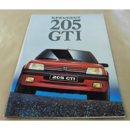 catalogue de présentation 205 GTi 1988