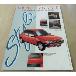 catalogue de présentation 205 Style 1993