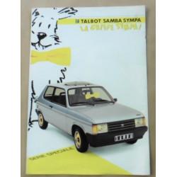 catalogue de présentation Samba Sympa 1985